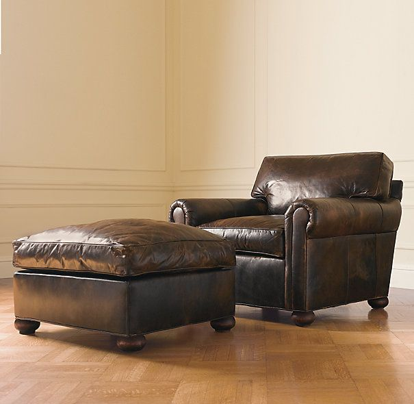 The Only 2 pieces of furniture I need in living room.  Lancaster Leather Chair @ Restoration Hardware