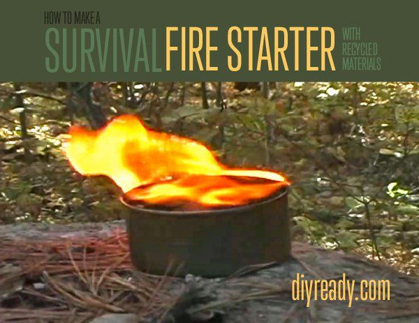 How to Make a Fire Starter or Survival Candle