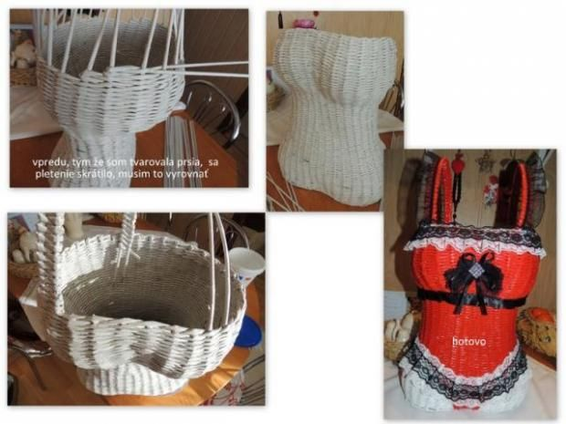 zopár obrázkov z pletenia korzetu, možno niekomu pomôžu