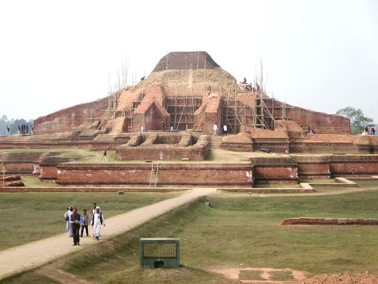 The Somapuri Mahavihara at Paharpur, Bangladesh, was once the largest Buddhist monastery south of the Himalayas. It was built by Dharmapala (770-810 AD), the second Pala emperor.