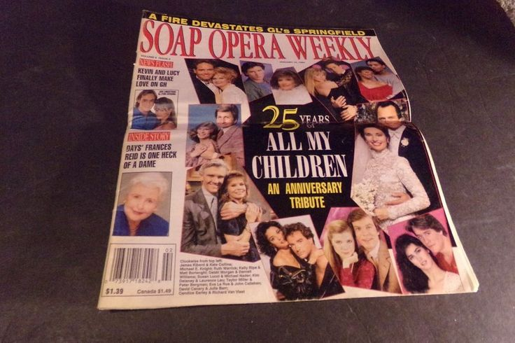 Vintage Soap Opera Weekly 25th Years All My Children Frances Reid Susan Flannery