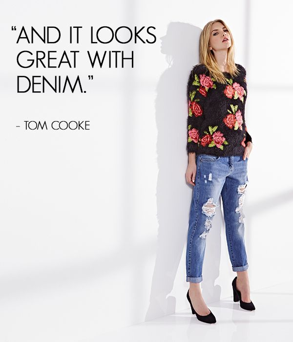 We couldn't agree more - everything looks great teamed with denim! Repin if you agree too! #Denim #Statement #WardrobeStaple #MyDenimStyle