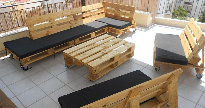 Pallets Wood Furniture / Muebles hechos con palets de madera