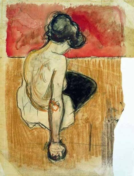 Edvard Munch, Modèle Assis on ArtStack #edvard-munch #art