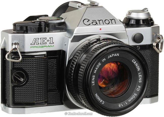 Canon AE-1 program 35mm film SLR Manual Focus Camera w/ FD 50mm lens - Porter Electronics