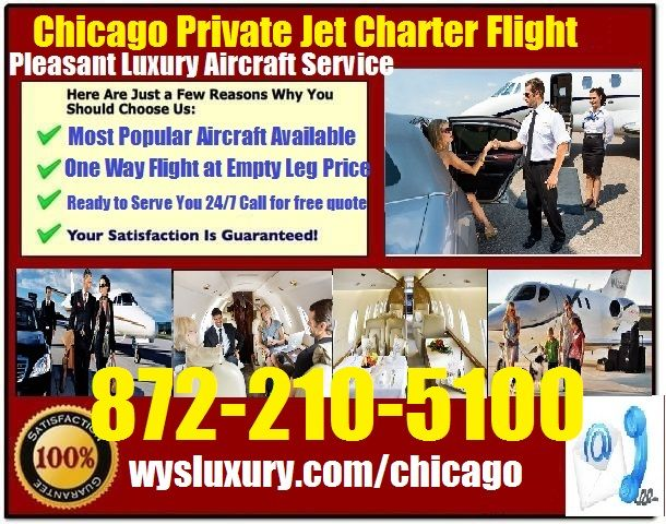 Private Jet Air Charter Service In From or To Chicago Illinois