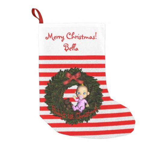 Baby Girl's 1st Christmas Personalized Christmas Stocking