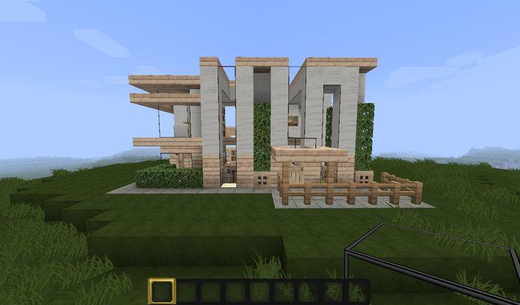 small minecraft modern house