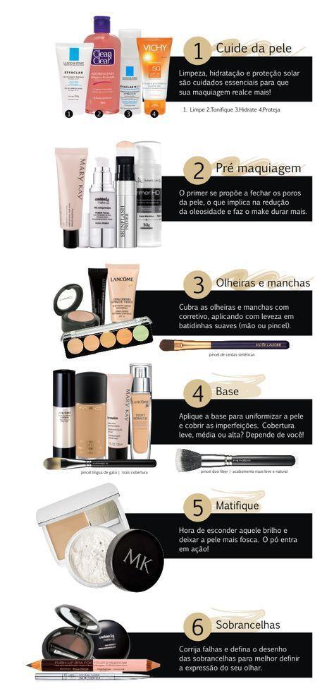 Maquiagem completinha em 13 passos || Pinterest: @mabedoni ❤️
