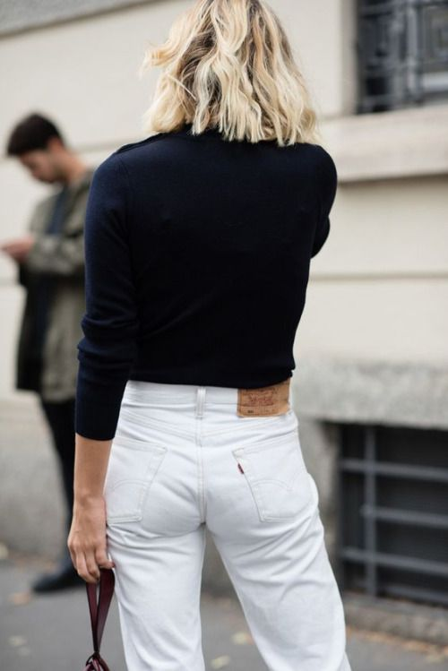 White 501's minimal chic    @sommerswim