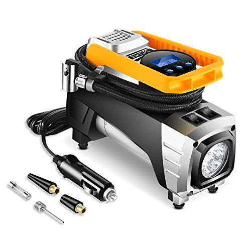 Auto portable Air Compressor Tire Inflator, Digital Air Compressor Pump for car tires, 12V 150 PSI Tire Pump for Car, Truck, Bicycle, RV and Other Inflatables #Auto #portable #Compressor #Tire #Inflator, #Digital #Pump #tires, #Car, #Truck, #Bicycle, #Other #Inflatables