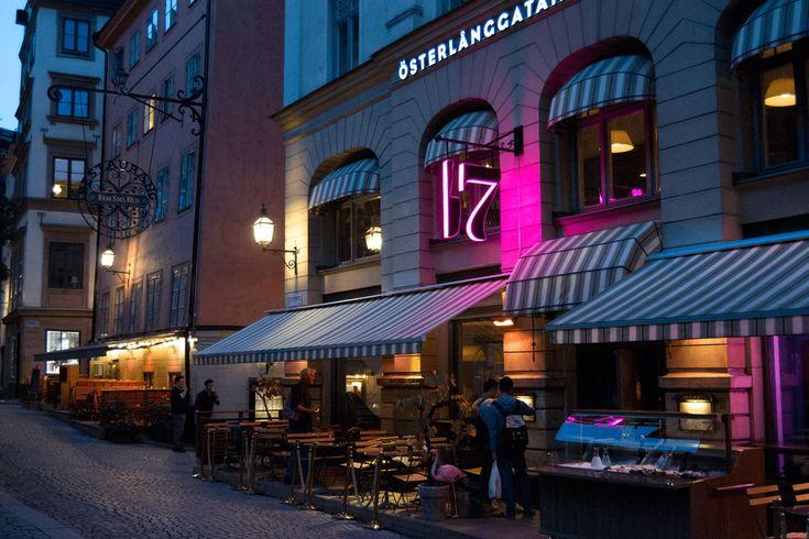 Restaurant Österlånggatan 17, Stockholm Old town RGB illuminated channel letters