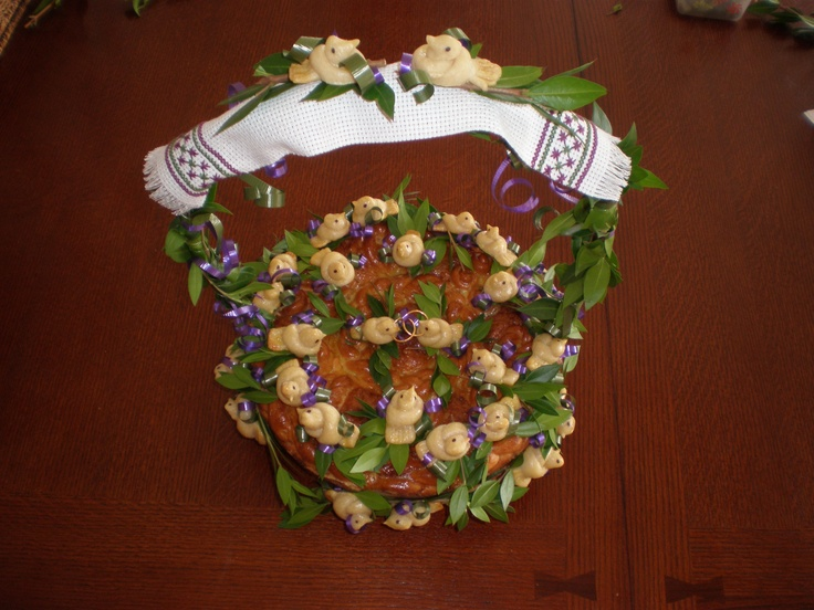 Ukrainian Wedding Bread Korovai made by Lisa McDonald