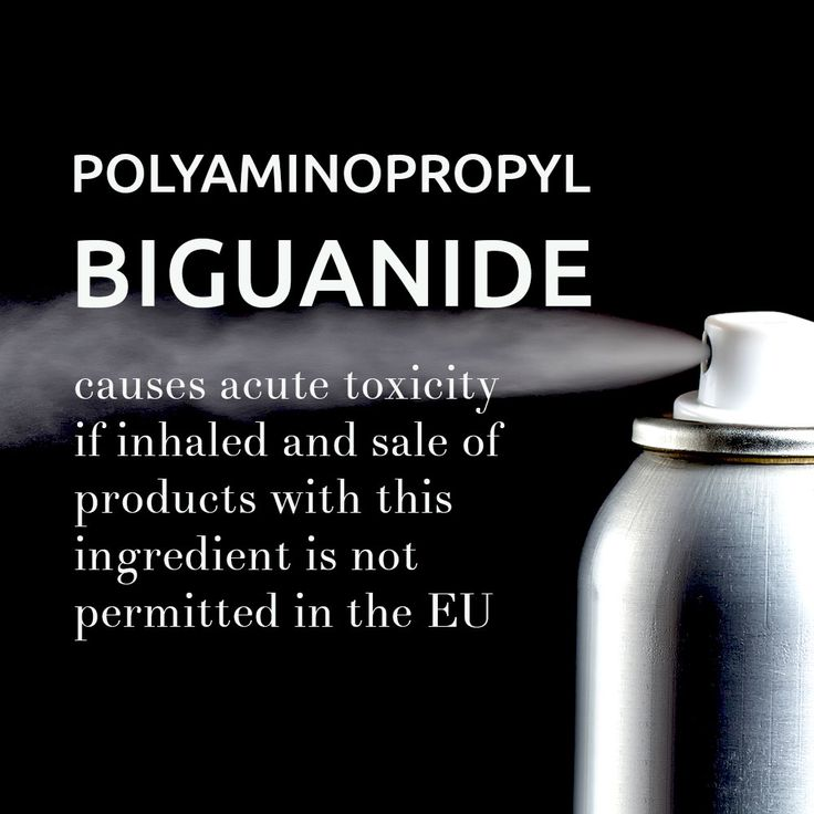 POLYAMINOPROPYL BIGUANIDE (PHMB) was categorized as a CMR (Carcinogenic, mutagenic or toxic to reproduction). This ingredient causes acute toxicity, if inhaled and sale of products with this ingredient is not permitted in the EU. Enclosed is our database capture of 284 products, where PHMB has been found. Note that some compositions may have changed or discontinued. However, they might still be available for sale with the older composition. http://open.cosmethics.com/Products_with_PHMB.xls