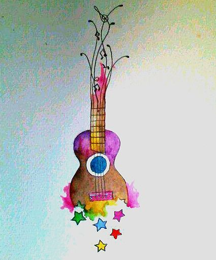 This is definitely going to be my next tattoo! Ukulele tattoo