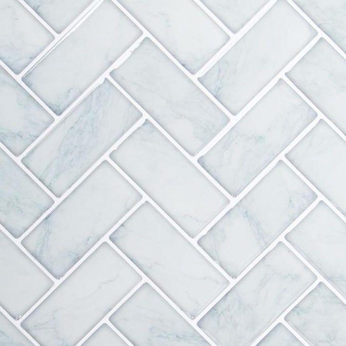 stick herringbone wall tiles