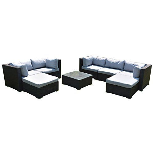 ssitg polyrattan lounge rattan garden furniture set plastic seats rattan garden furniture sets
