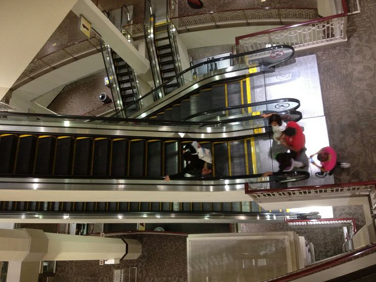Escalator's at Providence Place Mall Providence Rhode Island