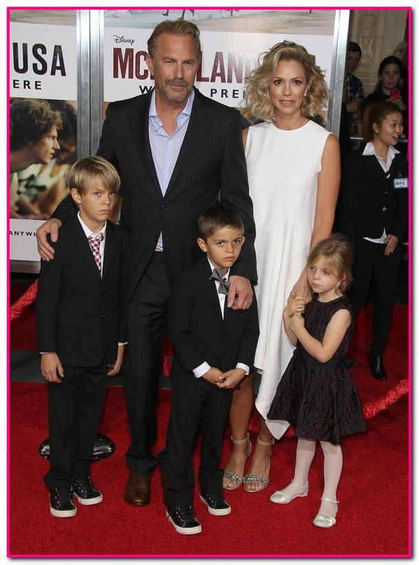 Kevin Costner & Wife Christine Baumgartner Bring Family to 'McFarland USA' Hollywood Premiere! |