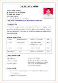 image result for sample of cv for job application - Job Resume Format