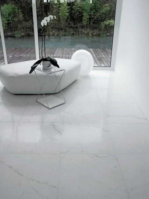 I MARMI ITALIANI: light, light, light! #white #glazedfacade #glass #stonetiles #stone #designtiles