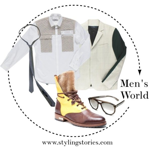 """Men's World - Designer Fashion""  Some ideas for a urban fashion look. #style #men #ricardo-andrez #Original #ankleboots #casualoutfit #glasses"