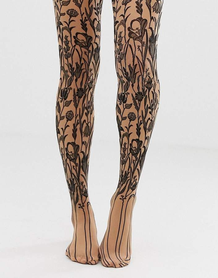 f47af8e8107 Wolford Wildflower sheer tights