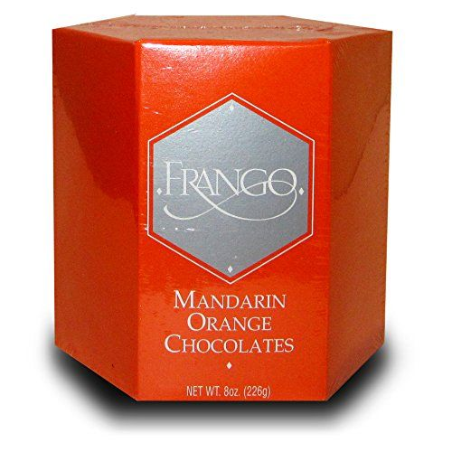 Frango Mandarin Orange Chocolate Truffles (LIMITED EDITION) - 12 piece Box of Chocolates - 8 OZ (226g) - Gift Box