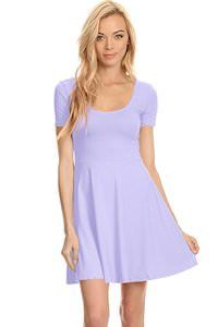 Women's Fit And Flare Dress that comes in many fun colors (available in 15 colors)