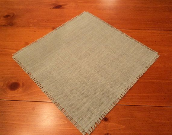 Colored Burlap Table Squares Wedding Table by theruffleddaisy, $5.40 --- navy instead of table cloths or runners