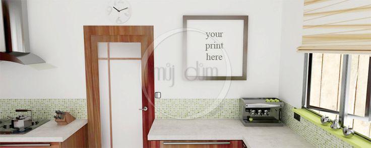 Cuisine, Mockup, photographie de Stock, usage Commercial, scène de cuisine, cadres photo vides, Frame maquette de la boutique mujdumwall sur Etsy