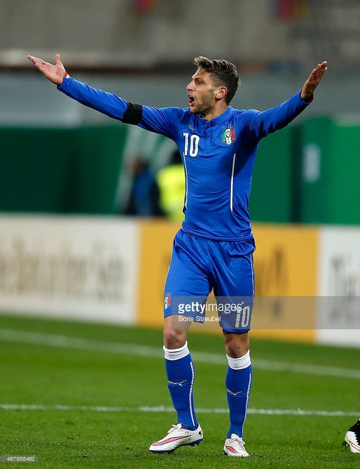 Domenico Berardi of Italy gestures during the U21 International friendly match between U21...
