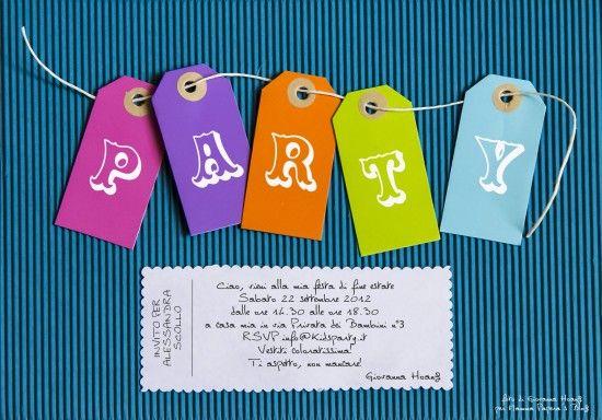 feste per bambini-biglietti invito-decorazioni