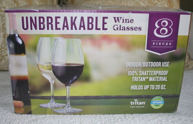 TRITAN FROM EASTMAN UNBREAKABLE WINE GLASSES - SET/8 #Tritan