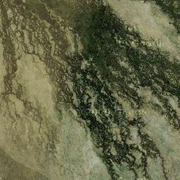 Map of Okavango Delta's safari camps and lodges – google Okavango Delta map from satellite images