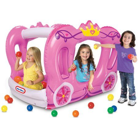 Little Tikes Enchanted Princess Carriage Ball Pit - Walmart.com