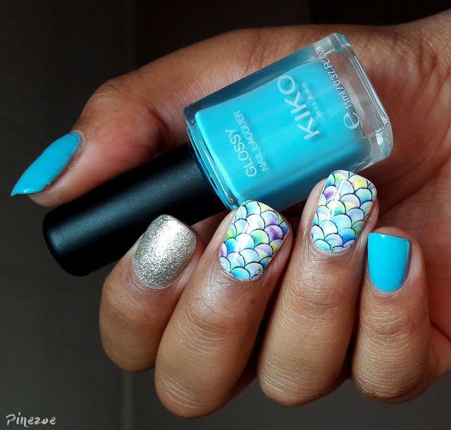 Kiko 707 - Blue Mermaid Nails