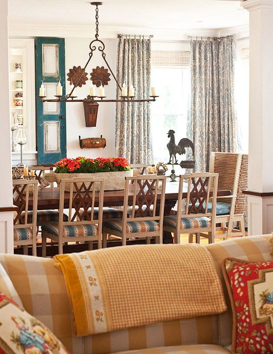 The neutral dining room is interrupted with pleasing for Teal dining room decorating ideas