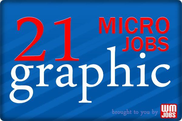 21 graphic micro jobs