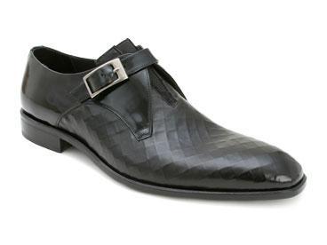 Mezlan Mens VILLA Black Italian Nappa Calfskin Leather Monkstrap Dress Shoes  in Clothing, , Mens Shoes, Dress/Formal