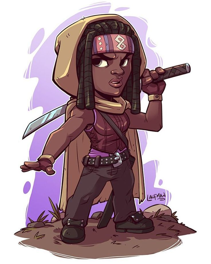 Day 14 - Michonne. Who's excited about the walking dead tonight? #dailydraw #walkingdead #michonne