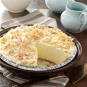 No-Cook Coconut Pie Recipe -This creamy No-Cook Coconut Pie proves that a quick meal doesn't have to go without dessert. —Jeanette Fuehring, Concordia, Missouri