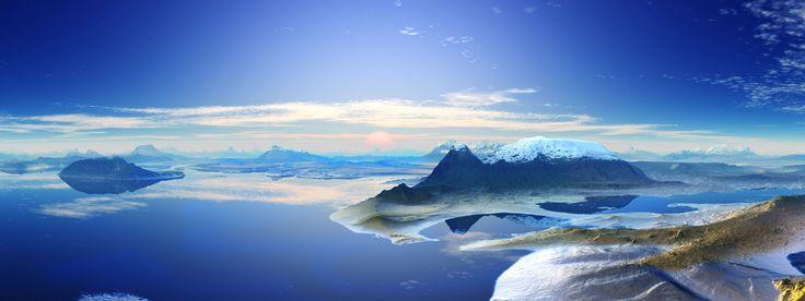 Antarctica Mountain Backgrounds | dual monitor wallpaper-wallpaper