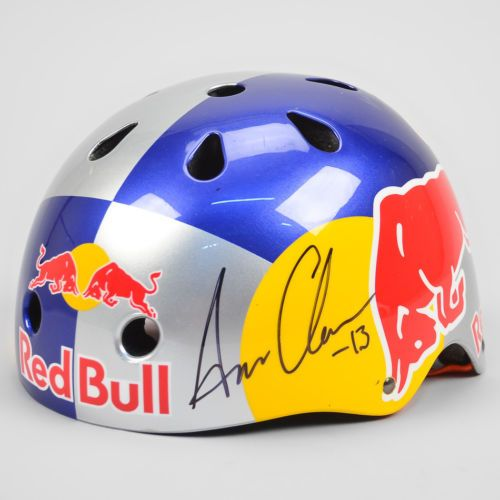 SixSixOne Red Bull Signed Team Helmet   Aaron Chase Bike Autographed Authentic