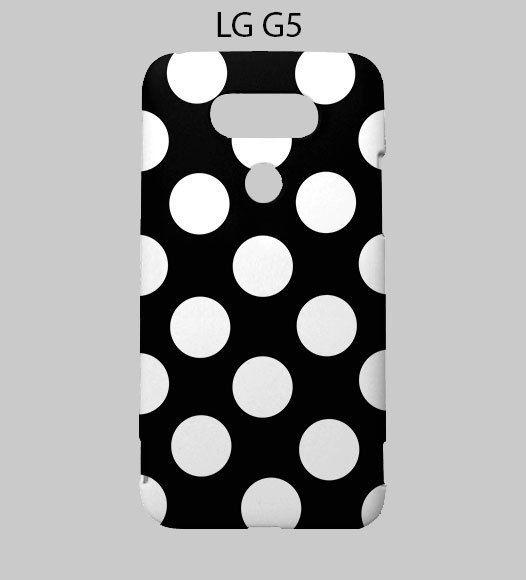Black White Polka Dots LG G5 Case Cover