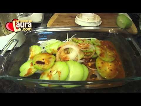 Chayotes al chipotle Recetas Light Las Recetas de Laura - YouTube