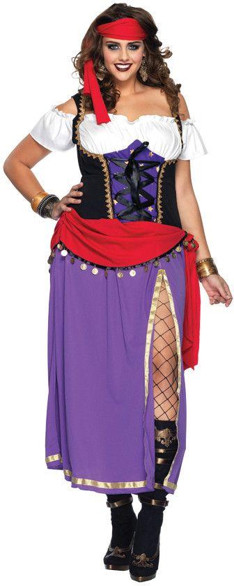 traveling gypsy women's plus size costume