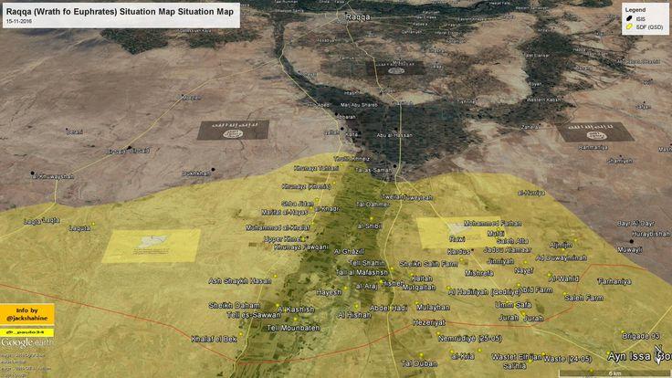 #Raqqah (Wrath fo Euphrates SDF Operation) Situation Map  15-11-2016 #Syria #ISIS vs #SDF #WrathOfEuphrates #wrath_of_euphrates