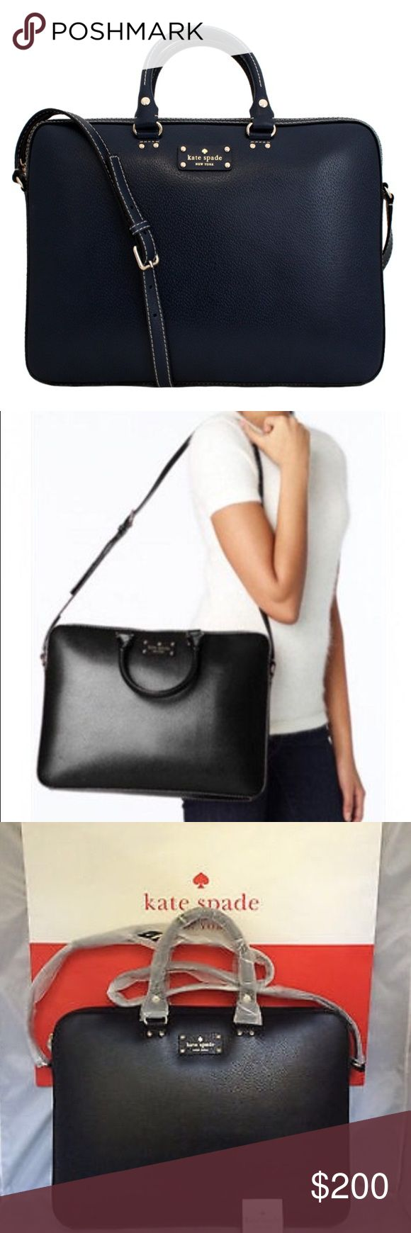 Kate Spade Leather Laptop Bag Amazing NWT laptop bag with extra room inside kate spade Bags