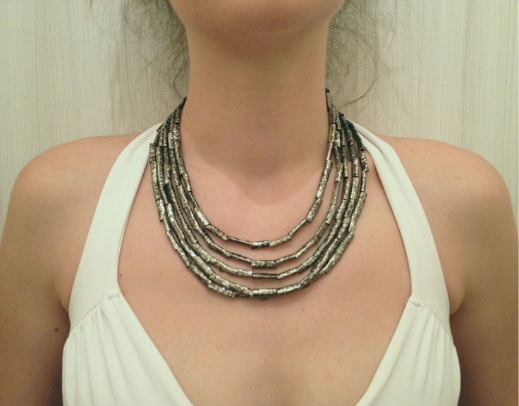 Darkened Nickel Silver Egyptian Style Tribal Necklace